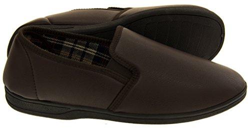 Eu 47 Imitación Cuero Zapatillas De Marrón Piri Hombre qSgwAA