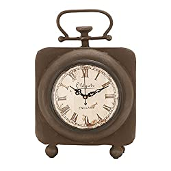 Deco 79 Metal Clock, 10 by 7-Inch