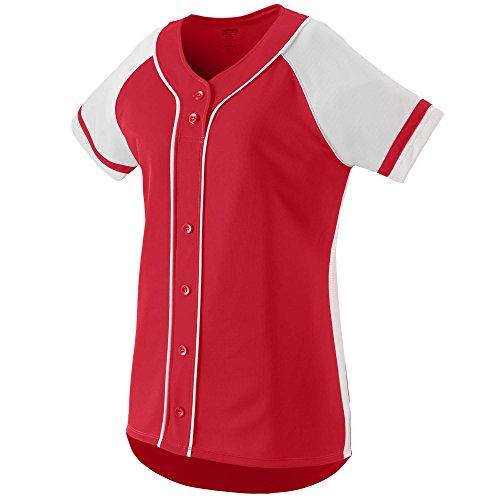 Augusta Sportswear Women's Winner Softball Jersey M Red/White