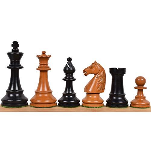 RoyalChessMall – Piezas de ajedrez de los Grandes Maestros soviéticos de la década de 1950 – Antiquity Boxwood – 4.1…