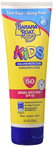 - Banana Boat Kids Tear Free Sunscreen Lotion SPF 50, 8 Oz (Pack of 6)