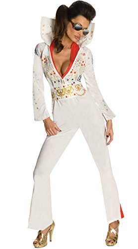 Secret Wishes Womens Elvis Jumpsuit Costume, Multi Color, Medium