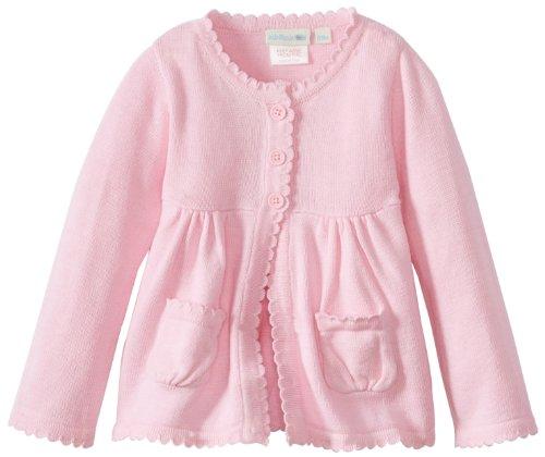 Jojo Maman Bebe Baby-Girls Newborn Cotton Cardigan, Pink, 3-6 Months