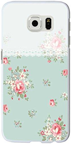 S6 Edge Case, Samsung Galaxy S6 Edge Case green flower floral decorative border