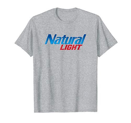 Logo Natural - Mens Natural Light Logo Tee Medium Heather Grey