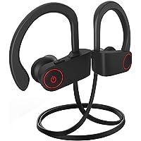 VKAKA Waterproof Bluetooth Sport Headphones with Mic IPX7