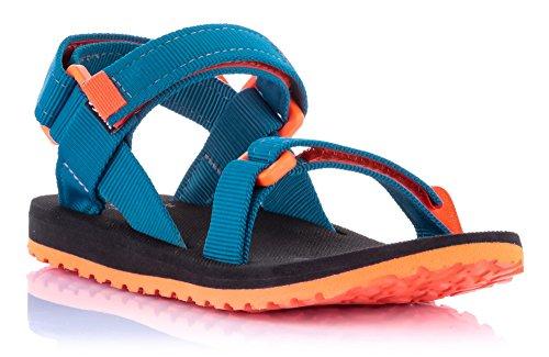 Source Kinder Sandale Urban Sandalette Jungen Mädchen verschiedene Farben / 101093 Blau Orange