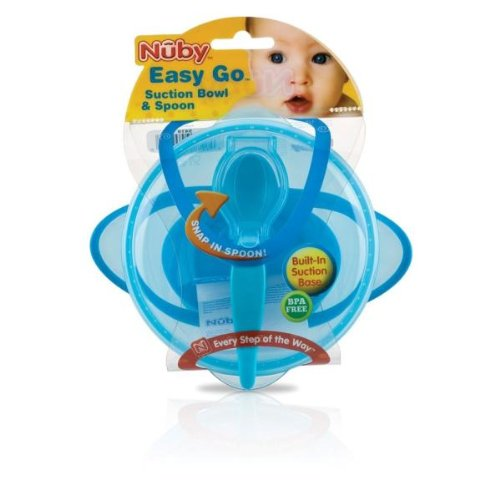 Nuby Suction Bowl WIth Spoon and Lid Case Pack 36