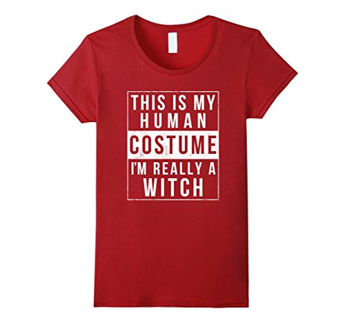 Womens Witch Halloween Costume Shirt Easy Simple Funny for Women XL (Simple Cheap Halloween Costumes For Adults)