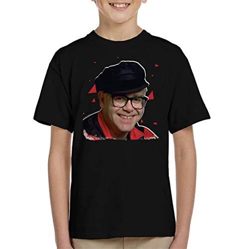 TV Times Pop Singer Elton John 1989 Kid's T-Shirt Black