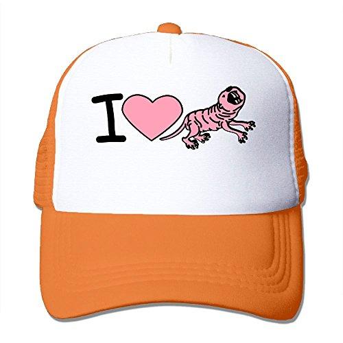 I Love Naked Mole Rat Big Foam Trucker Baseball Cap Mesh Back Adjustable (Mole Rat)