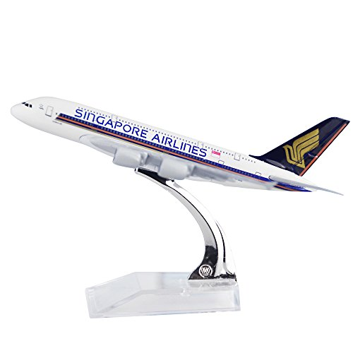 Singapore Airlines A380 Alloy Metal Plane Airplane Models