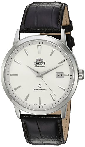 Orient Men's Symphony Gen. II Stainless Steel Japanese-Automatic Watch with Leather Strap, Brown, 22 (Model: SER2700HW0