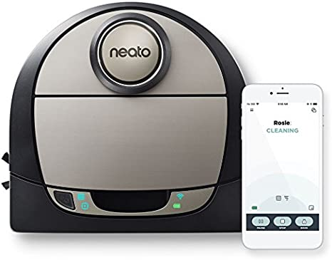 Neato Robotics D7 Connected Laser Guided Robot Vacuum Featuring Multiple Floor Plan Mapping and Zone Cleaning, Works with Amazon Alexa, Silver/Black best robot vacuums