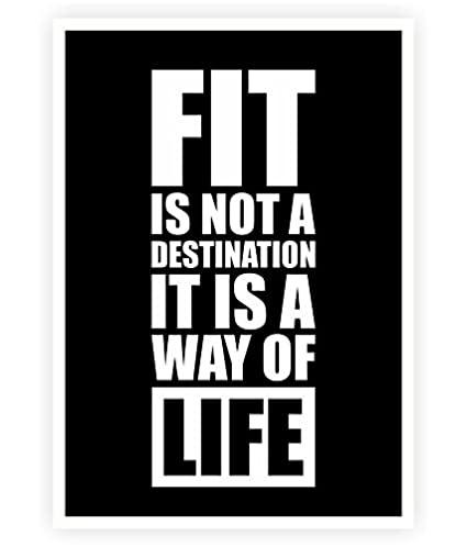 Amazon Fit Is Not A Destination Gym Inspirational New Life Quotes Posters