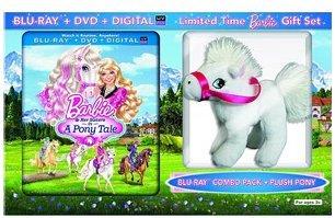 Barbie & Her Sisters in a Pony Tale includes Plush Pony (Blu-ray + DVD + Digital Copy + UltraViolet)