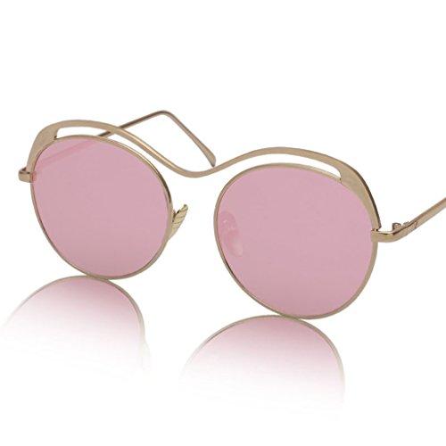 6 de Retro Gafas de sol X135 Transparentes Gafas Color Redondas de 3 Gafas sol Color U1OqvO