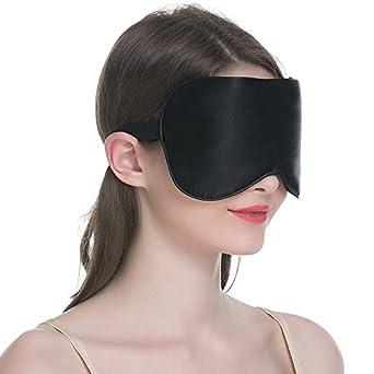 2 piezas Máscara del sueño, Máscara para los ojos, Tela de seda natural GULUDED
