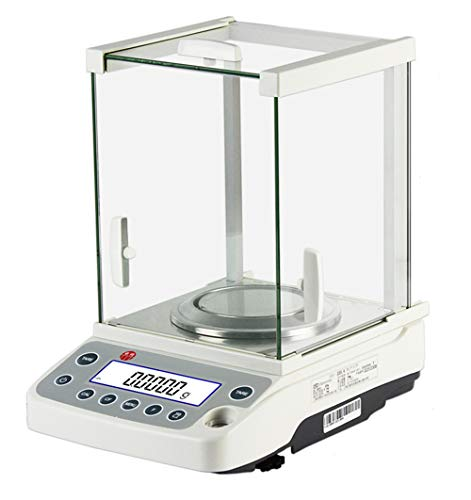 Hanchen Analytical Balance 31g//0.01mg Backlit LCD Display Electromagnetic Weighing Sensor Scales Automatic Calibration 0.01mg//0.1mg Electronic Lab Scale Dual Calibration Modes 120g//0.1mg