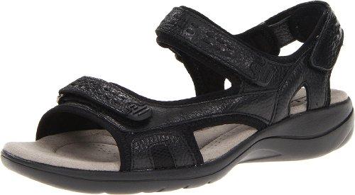 Clarks Clarks Morse Información de la sandalia Black Leather