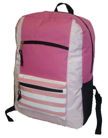 "18"" Contrast Basic Backpack - Pink Case Pack 40 from D&D"