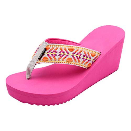 Ciabatte Da Sandali Tacco 35 Con Rosa colore 36 Personalità Moda Spiaggia Alto Huyp 5p0CwqxAA