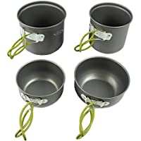 G4Free Outdoor Camping 4-Piece Pan Set