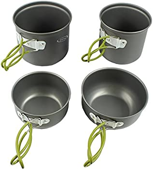 G4Free Outdoor Camping 4-Pc. Pan Set
