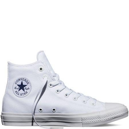 Converse Mens Chuck Taylor All Star II White Sneaker - 12 Men - 14 Women