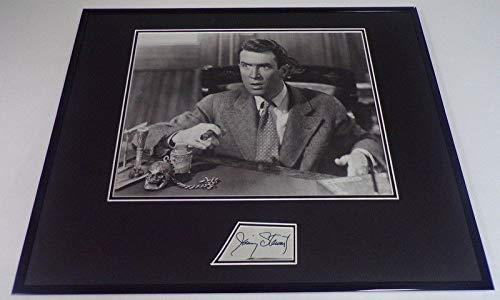 Jimmy Stewart Signed Framed 16x20 Photo Display JSA It's a Wonderful Life