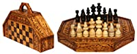 G6 COLLECTION Bali Indonesian Wooden Handmade Unique Chess Set with 32 Chess Pieces Handcrafted