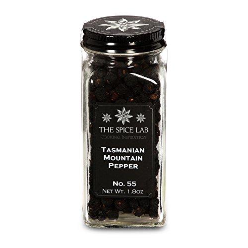 (The Spice Lab No. 55 - Tasmanian Mountain Pepper - All Natural Kosher Non GMO Gluten Free Pepper - French Jar )