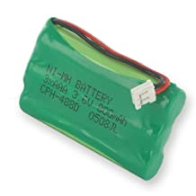 Sanik 3SN-5/4AAA80H-S-J1 Cordless Phone Battery Ni-MH 1X3-5/4AAA/D, 3.6 Volt, 800 mAh - Ultra Hi-Capacity - Replacement for Rechargeable Battery