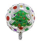 3-Pack Christmas Tree Foil Aluminum Bubbles Balloons Set - Pausseo Merry Christmas Santa Claus Snowman Bells Xmas Tree Party Decor Party Brithday Festival Decorations
