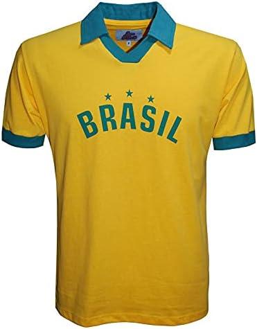 Camisa Polo Brasil Liga Retrô Amarela P