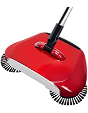 Floor Sweeper,Sweeper Vacuum Cleaning Mop Floor Mop Home Broom Cleaning Sweeper Mop Sweeper Hand Push Cleaner,Red Xping