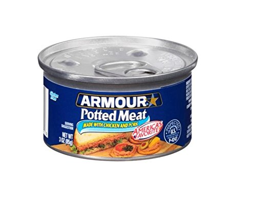 Armour Potted Meat, Chicken and Pork, 3 Ounce, 6 Cans, (Pack of 6)