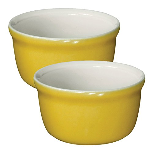 Yellow Bakeware Set (Emile Henry Made In France HR Modern Classics 2 Set Ramekin, Yellow)