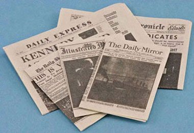 International Miniatures Dollhouse Miniature NEWSPAPER from International Miniatures by Classics