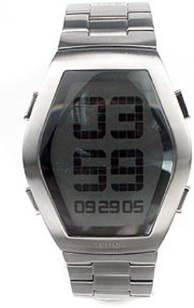 Esprit 4301455 - Reloj digital de caballero de cuarzo con correa de acero inoxidable plateada - sumergible a 30 metros: Amazon.es: Relojes