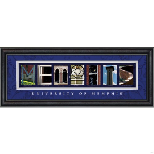 Prints Charming Letter Art Framed Print, U of Memphis-Memphis, Bold Color - Memphis Mall