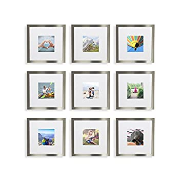 Amazon.com - 9-Set, Tiny Mighty Frames - Silver, Brushed Metal ...