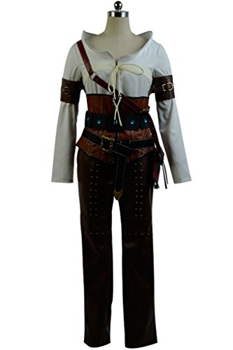 Price comparison product image Adult's The Witcher 3 Wild Hunt Ciri Cirilla Fiona Elen Cosplay Costume Outfit Uniform