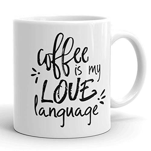 coffee is my love language MUG, funny valentines mug, valentines day gifts for him, valentine gift for her, mugs with sayings, friend