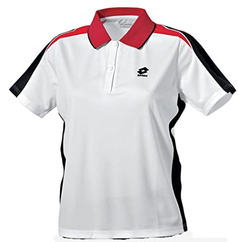 Lotto Polo Equipe Woman, Mujer, White/Black/Red: Amazon.es ...