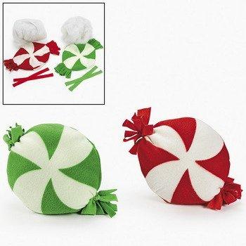 Fun Express Fleece Tied Candy Pillow Craft KIT - Craft Kits - 6 Pieces