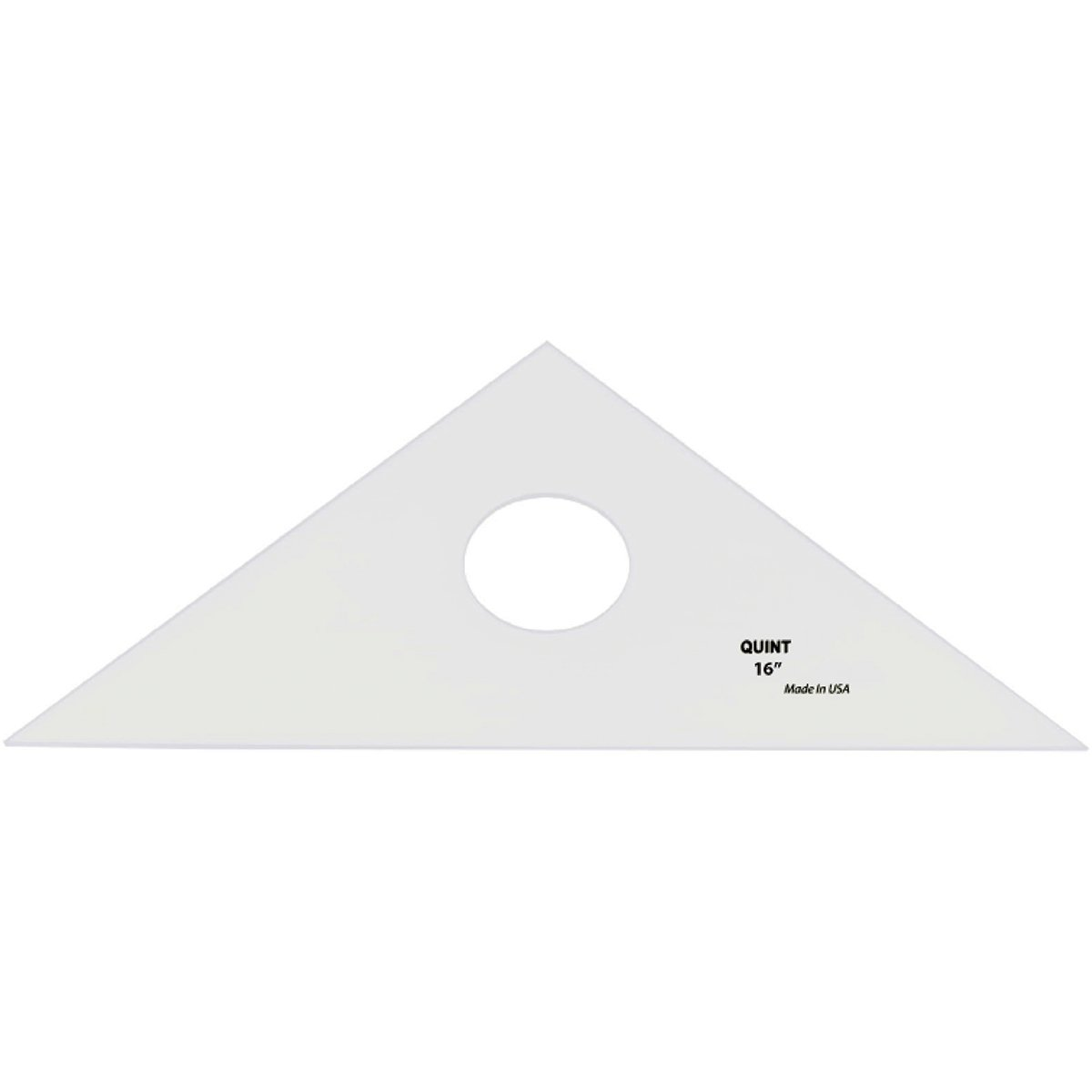Quint Measuring Systems 45/90 Professional Plain Edge Clear Triangle, 16''
