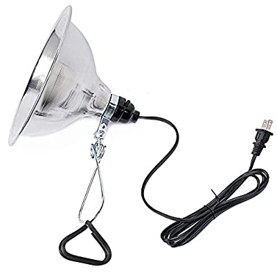 Simple Deluxe Clamp Lamp Light with 8.5 Inch Aluminum Reflector up to 150 Watt E26/E27 Socket (no Bulb Included) 6 Feet 18/2 SPT-2 Cord UL Listed
