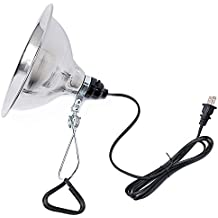 Simple Deluxe Clamp Lamp Light UL Listed with 8.5 Inch Aluminum Reflector 150 Watt 6 Foot Power Cord