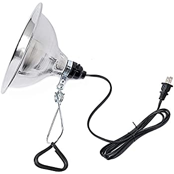 Simple DeluxeClamp Lamp Light with 8.5 Inch Aluminum Reflector up to 150 WattE26/E27 Socket (no Bulb Included) 6 Feet 18/2 SPT-2 Cord